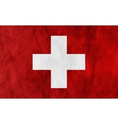 Swiss grunge flag background vector image