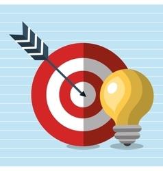 target idea icon vector image