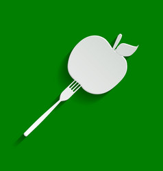 Vegetarian food sign paper vector