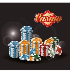 Chips casino las vegas game icon vector