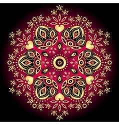 gold-purple round pattern vector image
