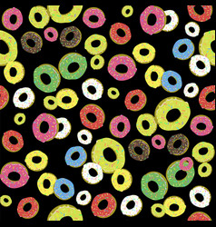 Colorful fresh sweet donuts seamless pattern vector