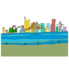 Cityscape drawing vector