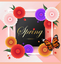 Spring background beautiful colorful dahlia flower vector