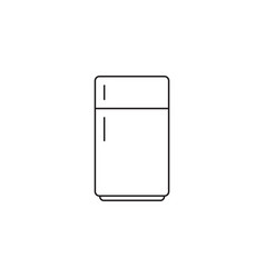 fridge line icon refrigerator outline vector image