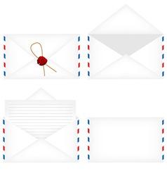 Envelope set vector image