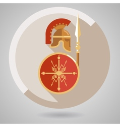Ancient warrior icon vector