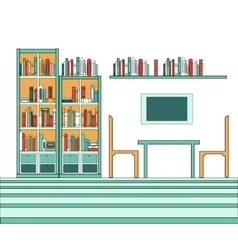 Modern creative library vector