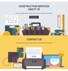 Advertising construction services vector