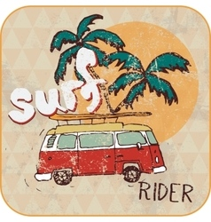 Van surf  t-shirt graphics vector