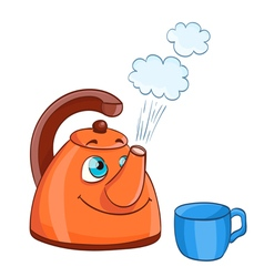 Cartoon kettle vector