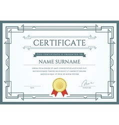 Certificate or diploma template ready for print or vector