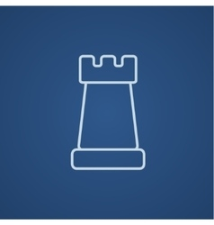 Chess line icon vector