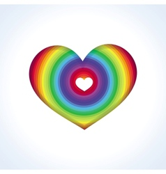 abstract heart in rainbow colors vector image