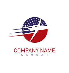 American airplane logo vector