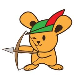 Archer rabbit vector