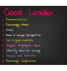 Best leader vector image vector image