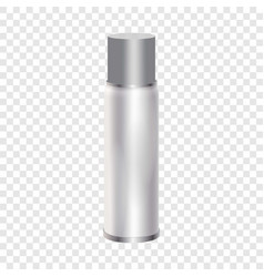 blank spray can mockup realistic style vector image