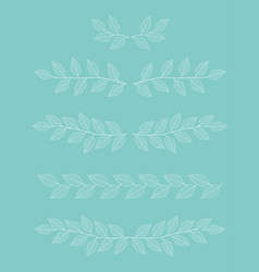 branches dividers set vector image vector image