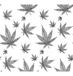 Cannabis pattern10 vector image