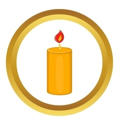 Christmas candle icon vector image