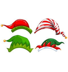 Different designs of jester hat vector
