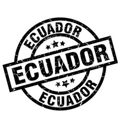 Ecuador black round grunge stamp vector