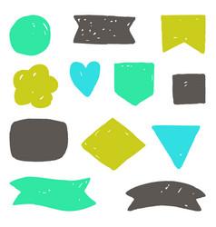hand drawn grunge shapes vector image