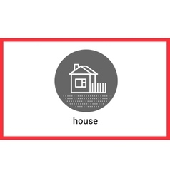 House building contour outline vector image