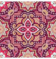 Seamless pattern Vintage decorative elements vector image vector image