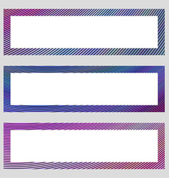 Set of colorful design banner frames vector