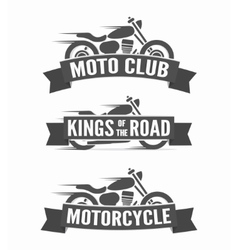 Set of vintage motorcycle labels badges and logos vector image vector image