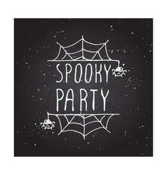 Spooky party - typographic element vector image vector image