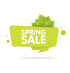 Spring sale banner origami style paper design vector
