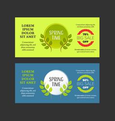 Springtime banners set vector