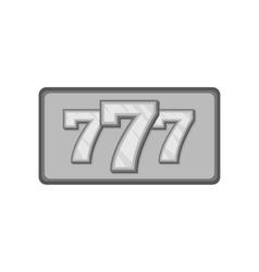 Triple lucky sevens icon black monochrome style vector