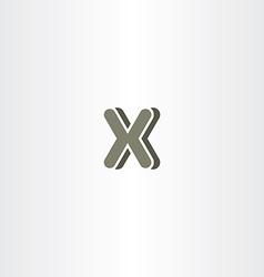 X letter logo logotype icon symbol company sign vector