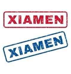 Xiamen rubber stamps vector