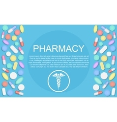 Modern flat design medicine pharmacy healthcare vector