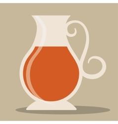 Kettle of tea drink design vector