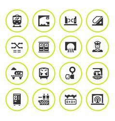 set round icons of subway vector image