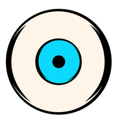 Human eye icon icon cartoon vector