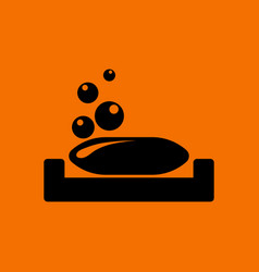 Soap-dish icon vector