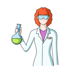 chemistprofessions single icon in cartoon style vector image