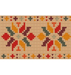 Retro knitted pattern background vector