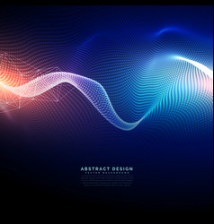 Technology digital background in wavy futuristic vector