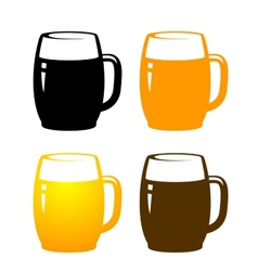 Beer mugs vector