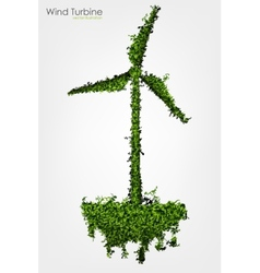 Simple grass covered wind turbine vector