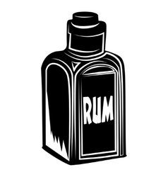 Bottle of rum vector
