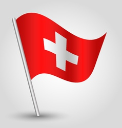 Flag switzerland vector